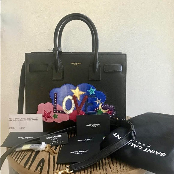 a4a537beae49 Yves Saint Laurent Bags | Saint Laurent Ysl Sac Du Jour Love Leather ...